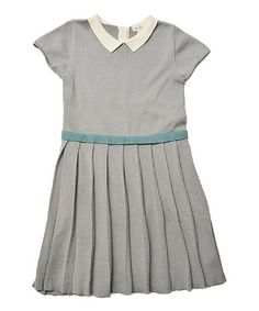 Look at this #zulilyfind! Cloud Pleated Maxwell Sweater Dress - Toddler & Girls by Olive Juice #zulilyfinds