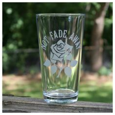 Grateful Dead Not Fade Away Etched Pint Glass listing at https://www.etsy.com/listing/233487052/sandblasted-pint-glasses-grateful-dead
