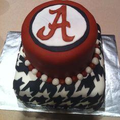 Alabama Roll Tide cake! (my first cake)