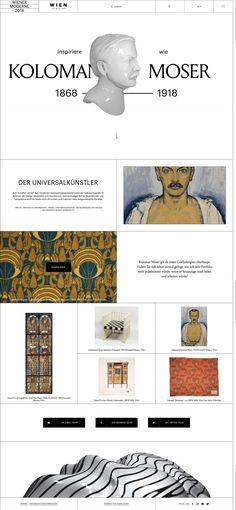 ea84175b67 Wiener Moderne 05 Modern Web Design, Ui Design, Website Layout, Web Layout,