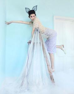 elle china nikolay biryukov4 Brit Wonderland: Ming Xi & Amber Anderson Pose for Nikolay Biryukov in Elle China