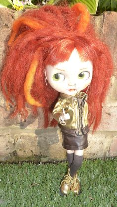 Blythe Gold Jacket & Leather Skirt  (BD14416)