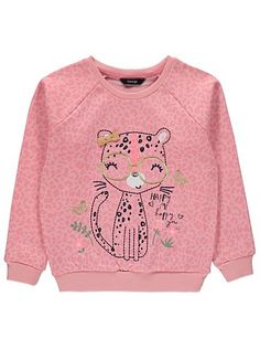 Tiger Sweatshirt, read reviews and buy online at George. Shop from our latest range in Kids. Make an adorable addition to their casual wardrobe with this tig... Girl Trends, Cute Baby Clothes, Latest Fashion For Women, Tigers, Babys, Feathers, Cute Babies, Little Girls, Girl Outfits