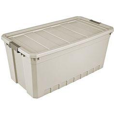 Purchase the Sterilite 7 Gallon Stacker Plastic Storage Bin for less