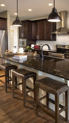 Morrison Homes is a Calgary Home Builder, specializing in front garage homes, luxury estate, quick possession homes & townhomes. Visit a show home today! Calgary News, Morrison Homes, Luxury Estate, Home Builders, Backsplash, Townhouse, My House, New Homes, Kitchens
