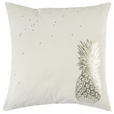 Coussin ananas or - cushion gold pineapple - pois - dots - la cerise sur le gateau