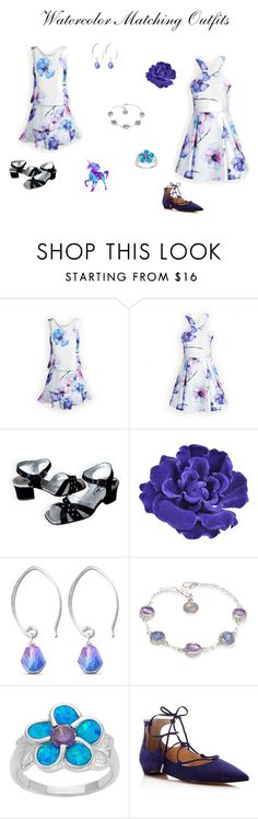 """""""Watercolor Matching Dresses"""" by woodensoldier on Polyvore featuring Chanel, Belk Silverworks, Poppy Jewellery and Ivanka Trump"""