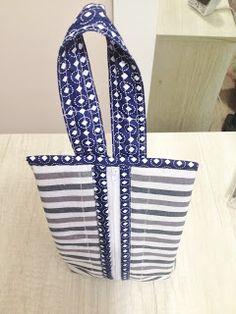 Passo a passo como fazer uma bolsa necessaire de mão masculina de tecido com zíper.