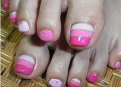 Ideas pink french pedicure toenails for 2019 Pedicure Designs, Pedicure Nail Art, Toe Nail Designs, Diy Nails, French Pedicure, Nail Nail, Pretty Toe Nails, Fancy Nails, Love Nails