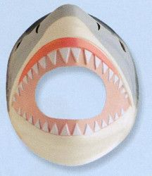 Shark Molded Foam Mask-83164   Complete your sharkcostume with this soft molded foam shark mask with elastic band. Our animal masks make great gifts.