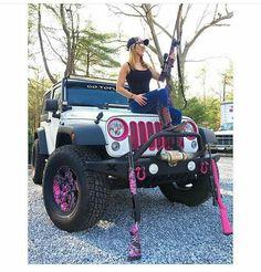Silly boys jeeps are for girls. Jeep 4x4, Jeep Truck, Trucks And Girls, Big Trucks, Lifted Trucks, My Dream Car, Dream Cars, Mini Jeep, Jeep Wrangler Accessories