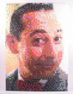 Perler Pee Wee Herman. $75.63, via Etsy.