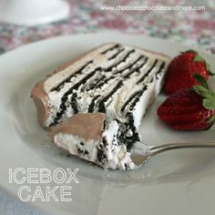 Icebox Cake-Chocolate Wafers and Whipped Cream make the perfect cool summer dessert