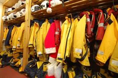 RNLI Poole Lifeboats are always ready to go. But someone else has stashed their uniform in the crew room for tonight...
