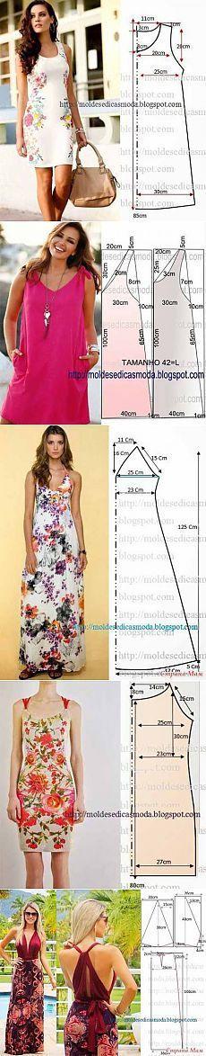 Los patrones simples de vestidos de verano y vestidos de verano   amante