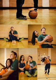 Excited for this fun couple's wedding in Engagement photos taken at the University of Miami where they both attended =) Photos by FCN Photography (Basketball Couples)