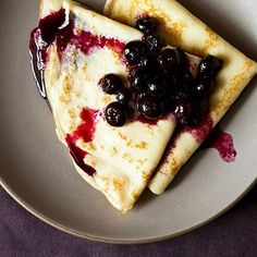 Crepes with Lemon Curd & Blueberry Compote Recipe on Food52 recipe on Food52