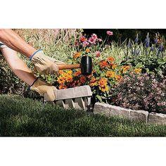 Landscape Edging Stone, Stone Edging, Landscape Borders, Landscape Design, Landscape Rake, Lawn Edging, Garden Edging, Garden Beds, Rock Garden Borders