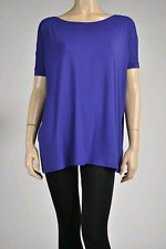 Royal blue short sleeve dolman top