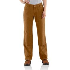 Carhartt WB136 - Carhartt Women's Easy-Fit Sandstone Carpenter Pant - Double Front at Dungarees Carhart Store - Terry recommends