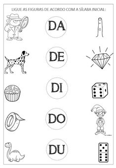 Criar Recriar Ensinar: LETRA D Seasons Activities, Pre K Activities, Kids Learning Activities, Home Learning, Toddler Learning, Spanish Lessons For Kids, Spanish Teaching Resources, Reading Intervention Activities, Fish Coloring Page