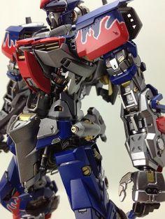 GUNDAM GUY: MG 1/100 Astray - Optimus Prime Custom Build [Updated 8/5/12]