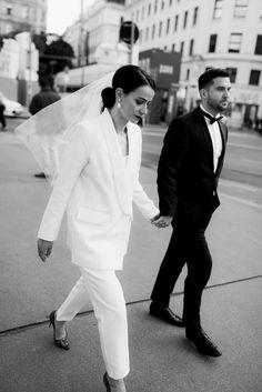 CROATIAN CATHEDRAL WEDDING WITH WEDDING SESSION IN VIENNA - MARCIJUŠ STUDIO | DESTINATION CONTEMPORARY PHOTOGRAPHER Classy Wedding Dress, Wedding Dress Styles, Wedding Suits, Prenuptial Photoshoot, Courthouse Wedding Photos, Wedding Pantsuit, Different Wedding Dresses, Outdoor Indian Wedding, Wedding Mood Board