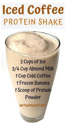 Iced Coffee Protein Shake Recipe, Protein Shake Recipes, Snack Recipes, Healthy Recipes, Coffee Protein Smoothie, Coffee Protein Shakes, Morning Protein Shake, Arbonne Protein Shakes, Healthy Iced Coffee
