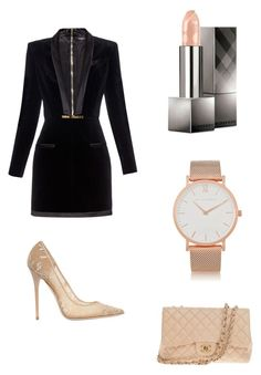 """""""Untitled #39"""" by eva-skok on Polyvore featuring Burberry, Larsson & Jennings, Balmain, Chanel and Jimmy Choo"""