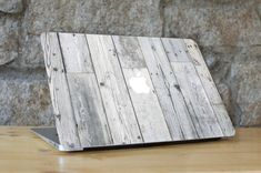 White Weathered Wood Texture Apple Skin - Peel and Stick Fabric Macbook Skin Cover Decal for all Macbook Models Skin Macbook Pro, Macbook Air 11 Case, Macbook Pro Cover, Laptop Skin, Macbook Keyboard Stickers, Weathered Wood, Wood Wood, Coque Macbook, Dry Skin Causes