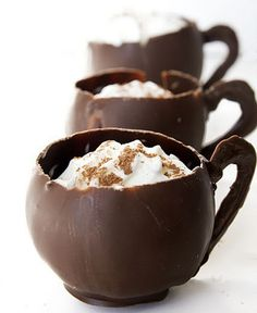 diy chocolate cups and hot chocolate recipe