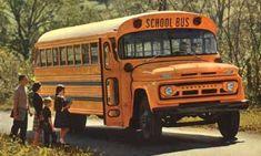 Chevrolet Thomas Built Schoolbus taking children Old School Bus, School Buses, Disney Pics, Disney Pictures, Richmond Indiana, School Bus Conversion, Bus Driver, Train Car, Gmc Trucks