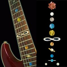 Fretboard Markers Inlay Sticker Decals for Guitar & Bass - Planet