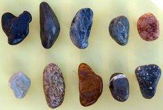Select River Stone Cabinet Knobs - set of 10. $50.00, via Etsy.