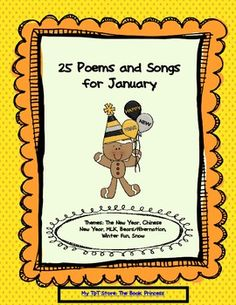 A great time to start poetry binders for fluency practice, Daily 5, etc.  Updated to reflect 2014.  $