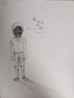 My drawing of The Empty Child from Doctor Who.