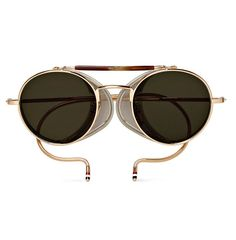 69dcbe02110a Love the Thom Browne Round-Frame Gold-Tone Sunglasses on Wantering.