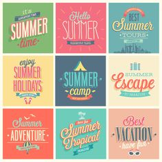 Badge summer travel vector by Oh! Freebie, via Behance