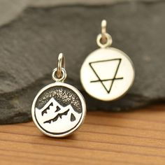 Sterling Silver 4 Elements: Earth Charm