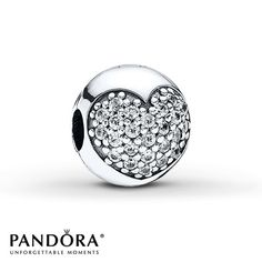 Pandora Clip  CZ Love of My Life  Sterling Silver