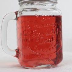 Glasmugg med handtag & lock