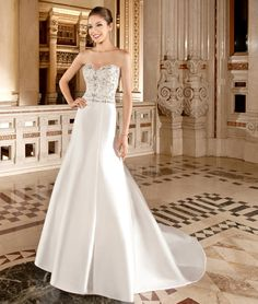 Illusion Style 3215  by Demetrios #MacysBridalSalon #chicago #bridal #gown #weddingdress #Demetrios