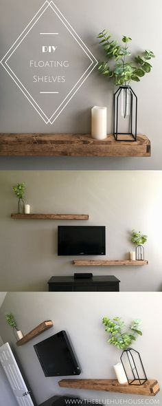 DIY Floating Shelves Modern Farmhouse Style