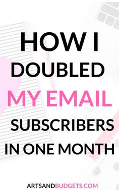 6 Ways to Grow Your Email List This Month - Arts and Budgets Social Marketing, Marketing Digital, Marketing Website, Email Marketing Design, Marketing Online, Email Marketing Strategy, Email Design, Internet Marketing, Content Marketing