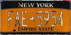 I uploaded new artwork to fineartamerica.com! - 'New York License Plate' - http://fineartamerica.com/featured/new-york-license-plate-lanjee-chee.html via @fineartamerica