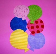 fabric balloon pattern | Fabric Applique TEMPLATE Pattern Only Mini BIRTHDAY Party BALLOON ...