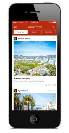 Flat iPhone App Template on Behance
