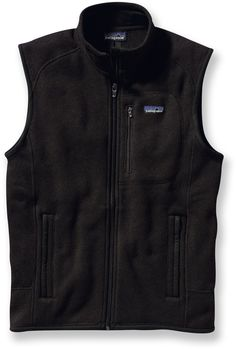 Patagonia Better Sweater Fleece Vest - Men's Ted, black or gray, in L