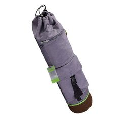 100% Cotton Canvas Yoga Mat Bag Tote with Expandable Cargo Pocket, Gray >>> Check out this great article.