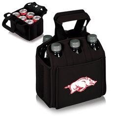 The Arkansas Razorbacks Six Pack Cooler Tote - University of Arkansas Coolers